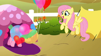 Pinkie Pie coming out of tent S2E15