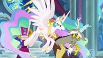 Princess Celestia enraged at Discord S9E24