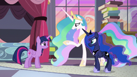 Princess Celestia reassuring Twilight S9E17