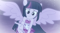 Princess Twilight offering her hand to Sunset EGFF