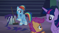 "Rainbow Dash ""Spitfire's got me cleaning"" S6E7"