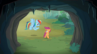 Rainbow Dash asks Scootaloo what's wrong S7E16