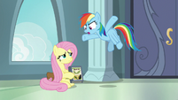 Rainbow Dash shocked at Fluttershy S9E21