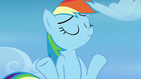 Rainbow Dash shrugging her shoulders S6E24