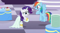 Rarity -it's almost impossible to get stains out of silk- S5E15