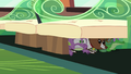 Spike and pets hiding under seats S03E11.png