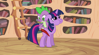 Spike continuing tickling Twilight S2E20