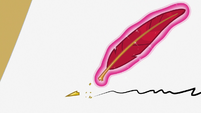 Twilight Sparkle's quill tip breaks S7E22