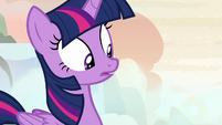 Twilight Sparkle surprised by her mother's suggestion S7E22