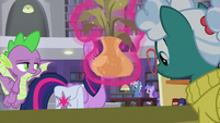 Twilight addresses librarian with disguised voice S9E5