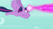 Twilight firing magic at the roc S8E11