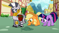 Applejack and Twilight look at the ground S2E06.png