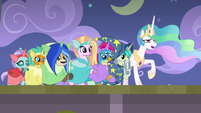 Celestia acting poorly during dance number S8E7