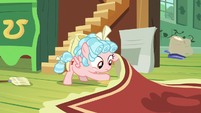 Cozy Glow sweeps bird seed under the carpet S8E12