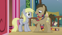 Dr. Hooves looking at imaginary watch S5E9