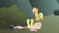 Fluttershy on her back S1E07.png