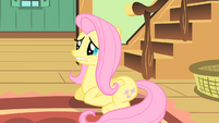 Fluttershy sitting on the floor S1E22