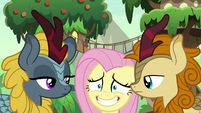 Fluttershy stuck between two Kirin S8E23