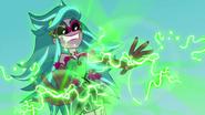 Gloriosa Daisy using her magic on Applejack EG4