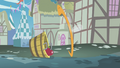 Parasprite eating the apple bucket S1E10.png