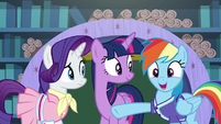 "Rainbow Dash ""it's not even summer yet!"" S8E17"