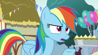 "Rainbow Dash confused ""laser eyes?"" S7E23"
