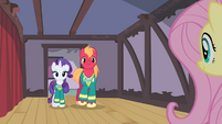 Rarity and Big Mac walk up to Fluttershy S4E14