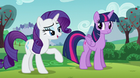 Rarity putting emphasis on the word --artistes-- S5E24