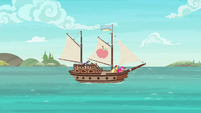 Ship sets sail in Pinkie Pie's story S6E22