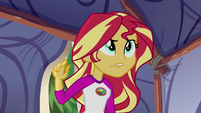 Sunset Shimmer entering the Sapphire Tent EG4