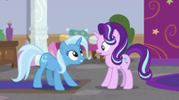 Trixie looks at Starlight with excitement S9E20