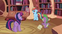 Twilight Sparkle, Spike and Rainbow Dash S2E16