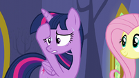 Twilight nervous and sweating S5E11