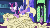 Twilight sifts through dozens of lesson scrolls S7E1