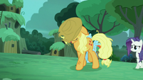 --Applejack-- --It's taken quite a while to find you-- S5E26