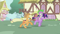 Applejack and Twilight galloping S2E06.png