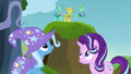 Changelings cheering near Starlight and Trixie S7E17.png