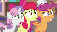 Cutie Mark Crusaders in aghast shock S8E12