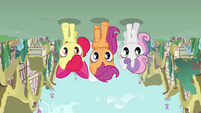 Cutie Mark Crusaders upside-down S4E12