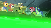Daring Do pumping air into the slime pit S7E25