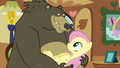 Grizzly bear holding Fluttershy S03E13.png