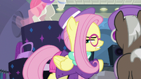 Hipster Fluttershy calls the raccoons rodents S8E4