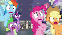 Main four and Spike gasping in shock S8E4