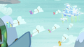 Pegasi bringing the snow clouds down from Cloudsdale S5E5.png