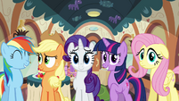 Rainbow, Applejack, Rarity, Twilight and Fluttershy S2E24