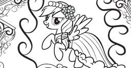 Image  Rainbow Dash colorin imagejpg  My Little Pony