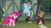 Rainbow Dash doesn't believe A. K. Yearling S7E18