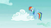 Rainbow Dash moving clouds S5E22