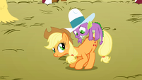 Spike on Applejack S1E13