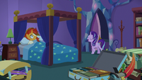 Starlight Glimmer bursts into Sunburst's room S7E24